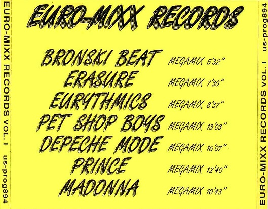 Euro Mixx Vol 1: BACKUP CD
