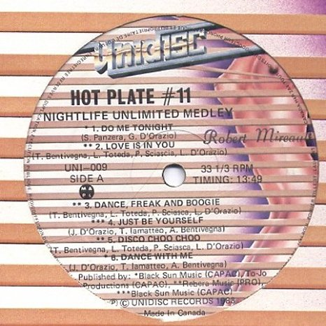 Hot Plate Medley Disco Collection Cd3: BACKUP CD