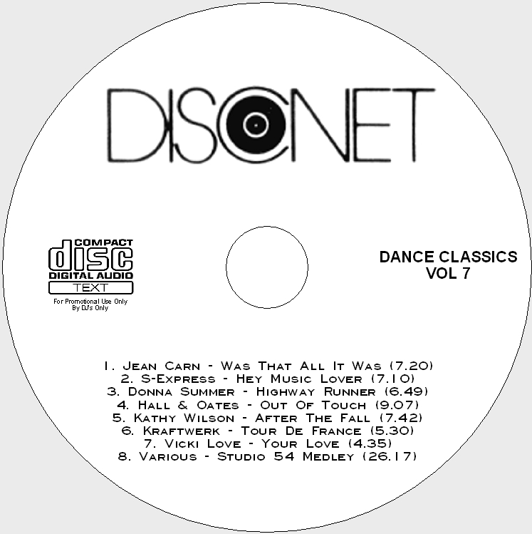 Disconet Dance Classics Vol 7: BACKUP CD
