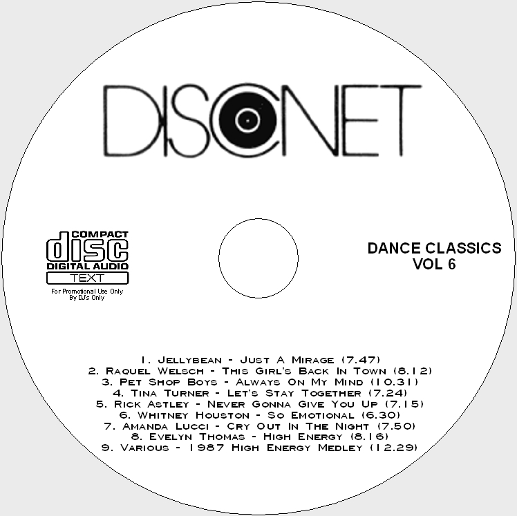Disconet Dance Classics Vol 6: BACKUP CD